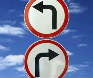derecha o izquierda